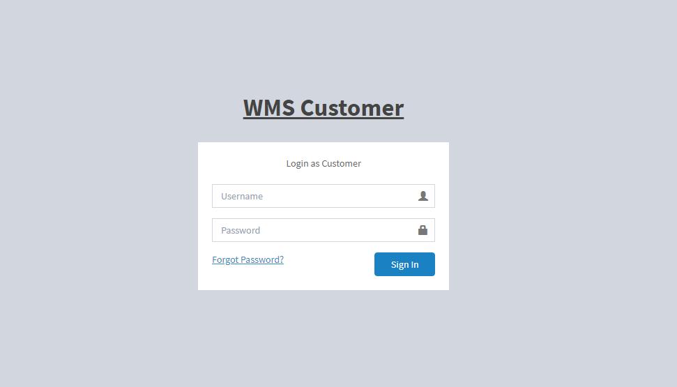 halaman customer login wms